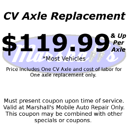 CV Axle Replacement Coupon